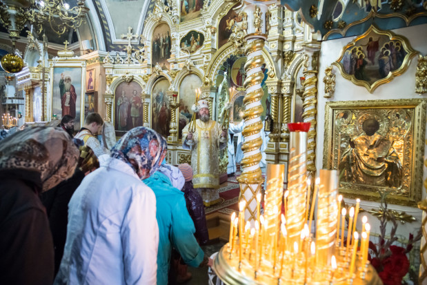 В праздник Преображения Господня, престольный праздник нашего храма состоялось архиерейское Богослужение