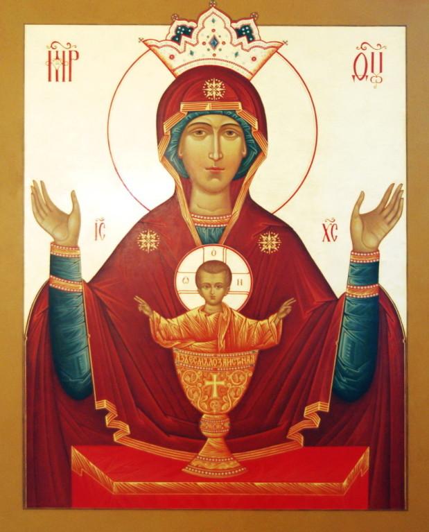 В Спасо-Перображенском храме отслужили акафист Богородице перед Ее иконой «Неупиваемая чаша».
